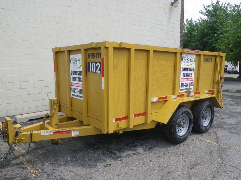 Dumpster Low Rates Driveway Safe Rubber Wheels Same